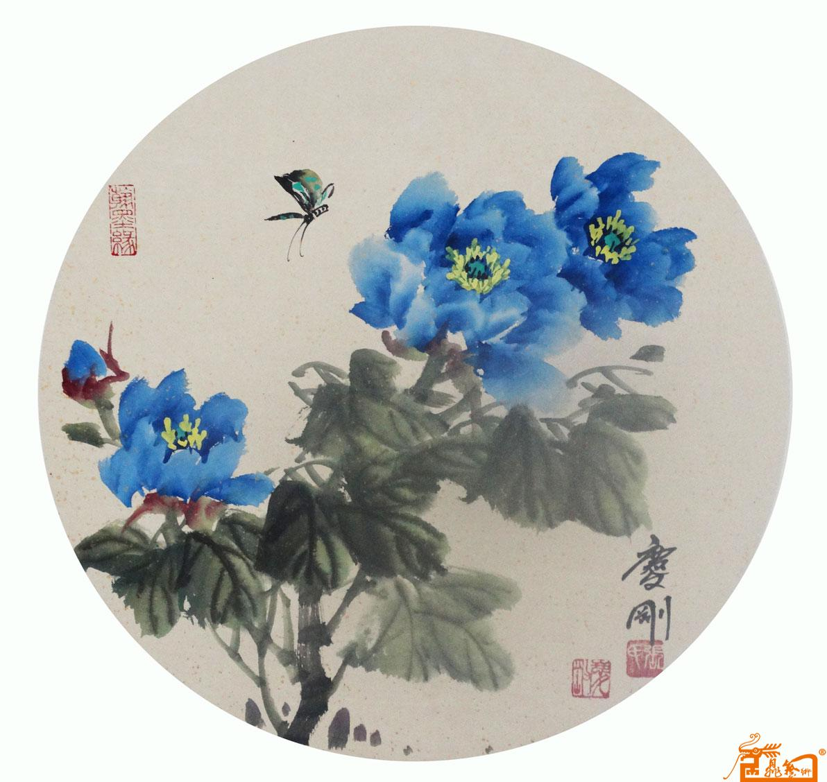 儿童手绘花朵团扇